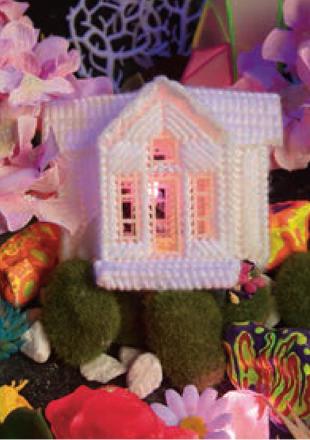 woven pink house